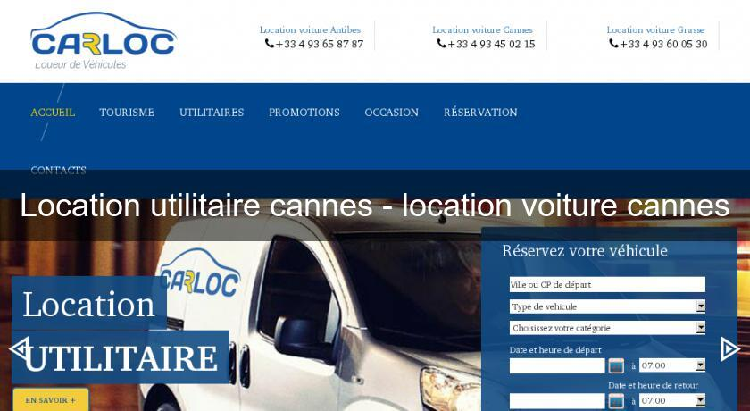 Location utilitaire cannes - location voiture cannes