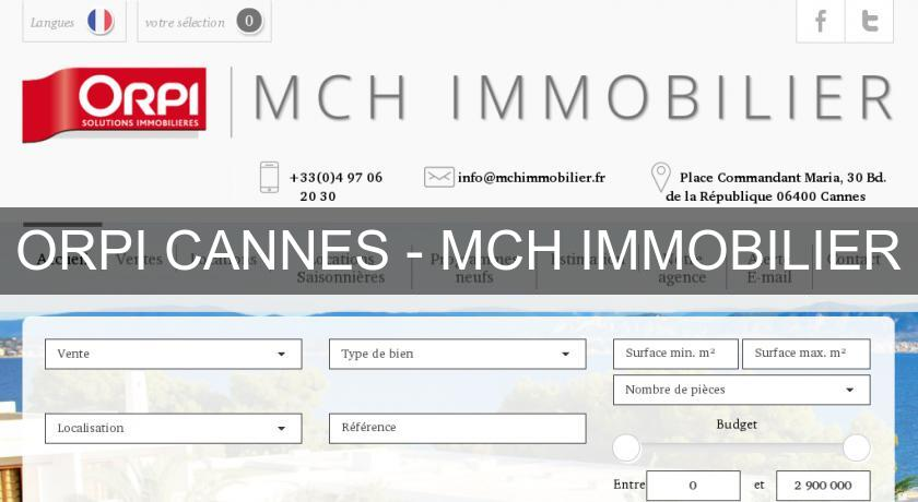 ORPI CANNES - MCH IMMOBILIER