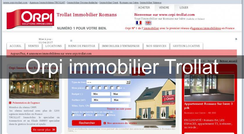 Orpi immobilier Trollat