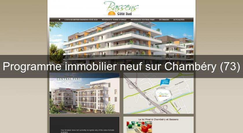 Programme immobilier neuf sur Chambéry (73)