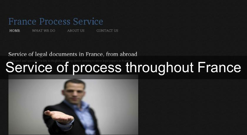 Service of process throughout France