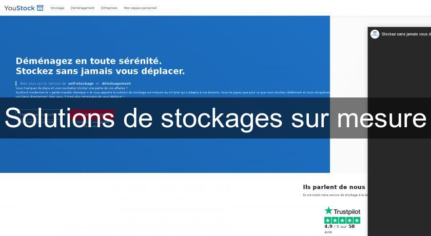 Solutions de stockages sur mesure