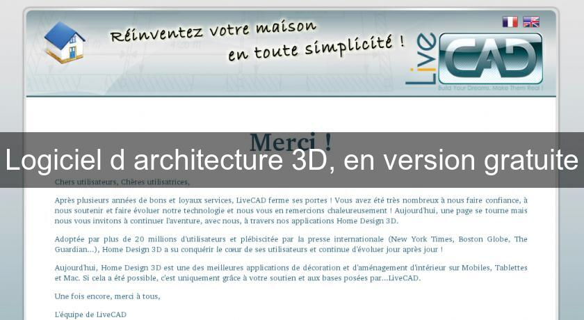 Logiciel DArchitecture D En Version Gratuite Freeware