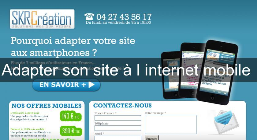 Adapter son site à l'internet mobile