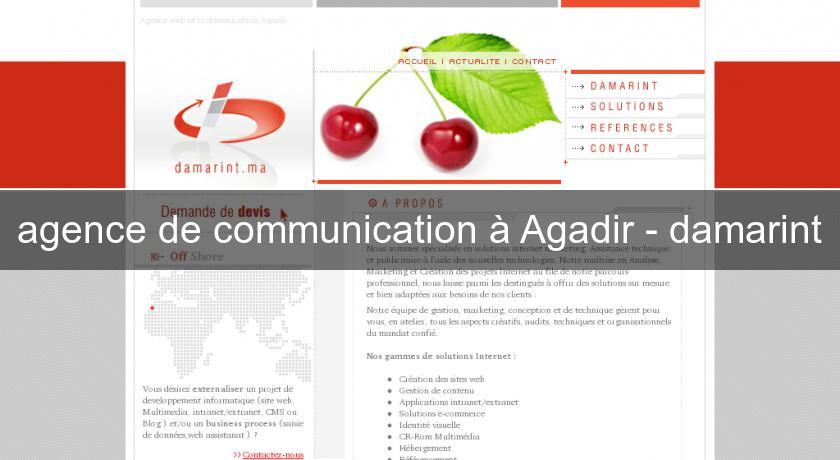 agence de communication à Agadir - damarint