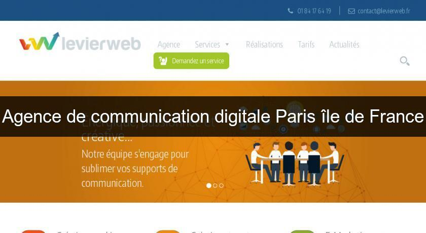 Agence de communication digitale Paris île de France