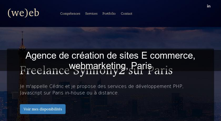 Agence de création de sites E commerce, webmarketing, Paris