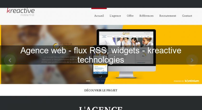 Agence web - flux RSS, widgets - kreactive technologies