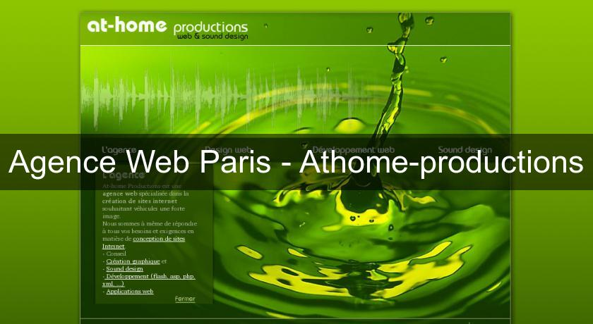 Agence Web Paris - Athome-productions