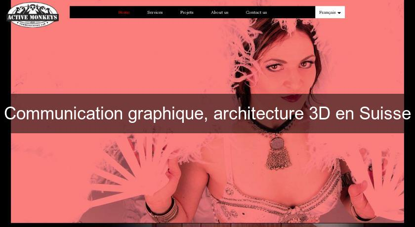 Communication graphique, architecture 3D en Suisse