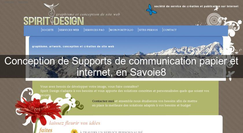 Conception de Supports de communication papier et internet, en Savoie8