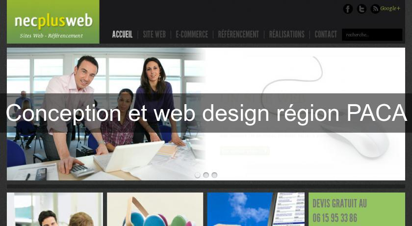 Conception et web design région PACA