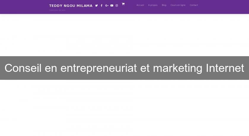 Conseil en entrepreneuriat et marketing Internet