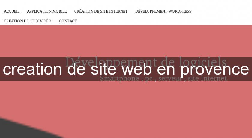 creation de site web en provence