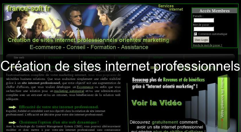 Création de sites internet professionnels