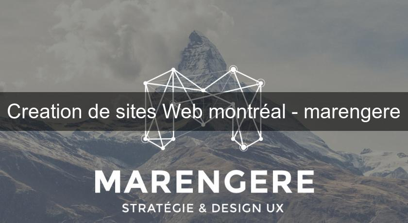 Creation de sites Web montréal - marengere