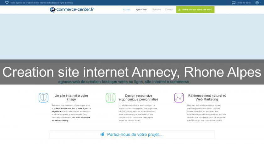 Creation site internet Annecy, Rhone Alpes