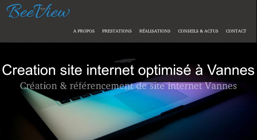 Creation site internet optimisé à Vannes