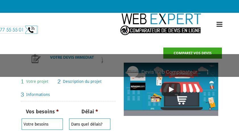 Devis pour projet site web, application mobile, community management
