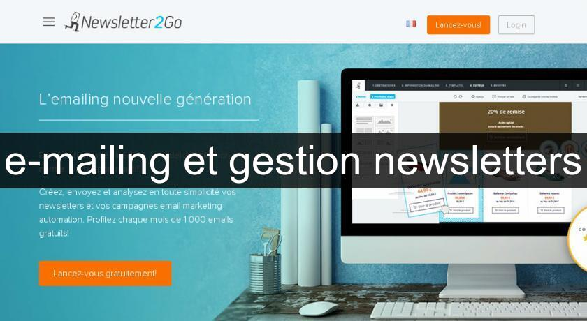 e-mailing et gestion newsletters