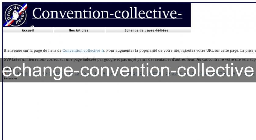 echange-convention-collective