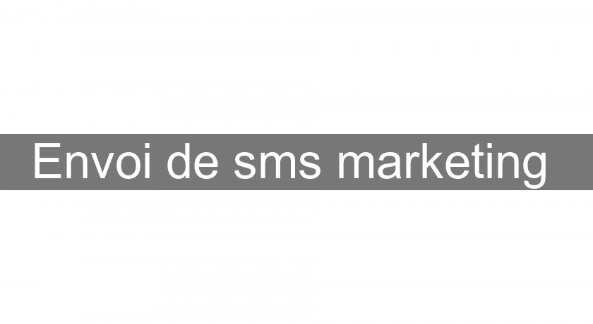 Envoi de sms marketing