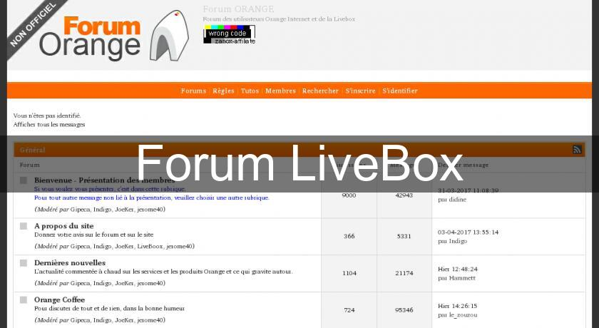 Forum LiveBox