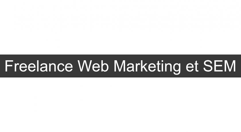 Freelance Web Marketing et SEM