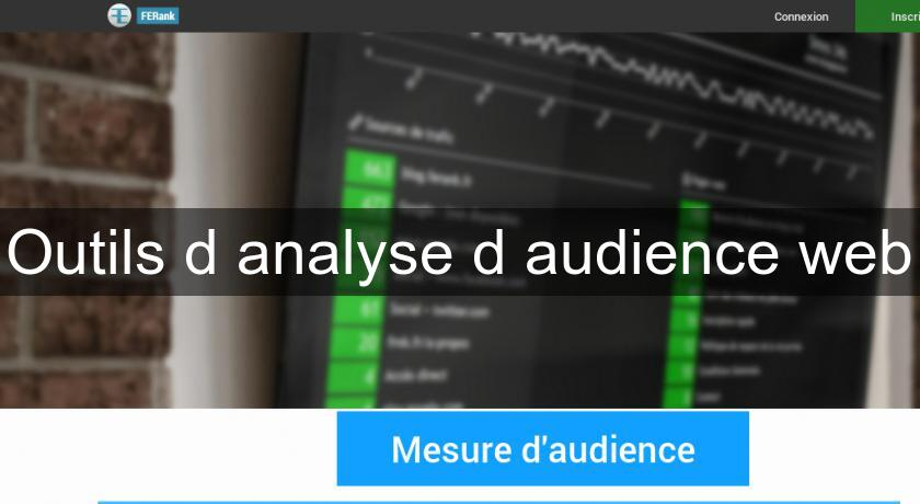 Outils d'analyse d'audience web