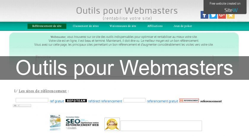 Outils pour Webmasters