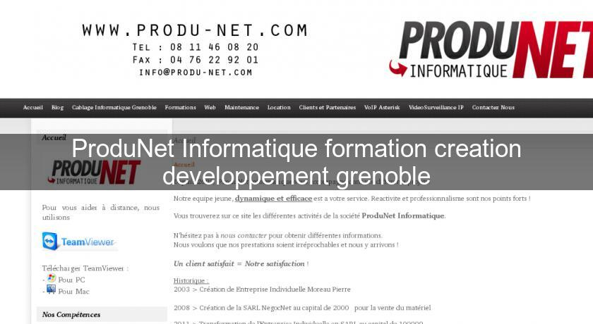 ProduNet Informatique formation creation developpement grenoble