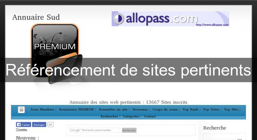 Référencement de sites pertinents