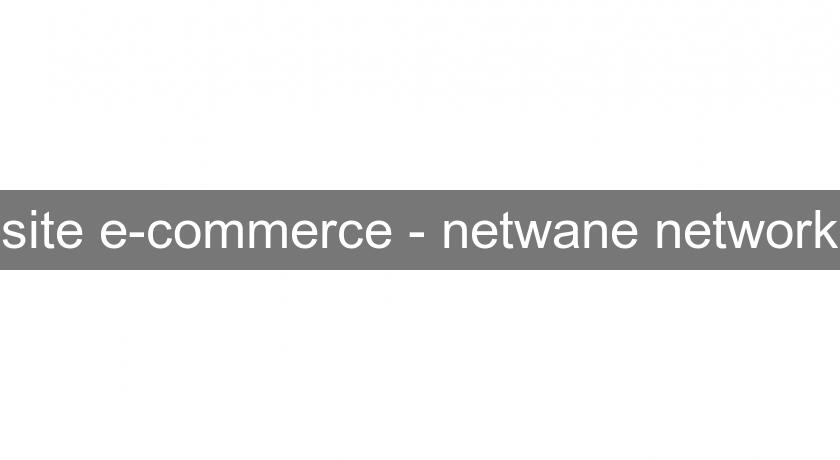 site e-commerce - netwane network