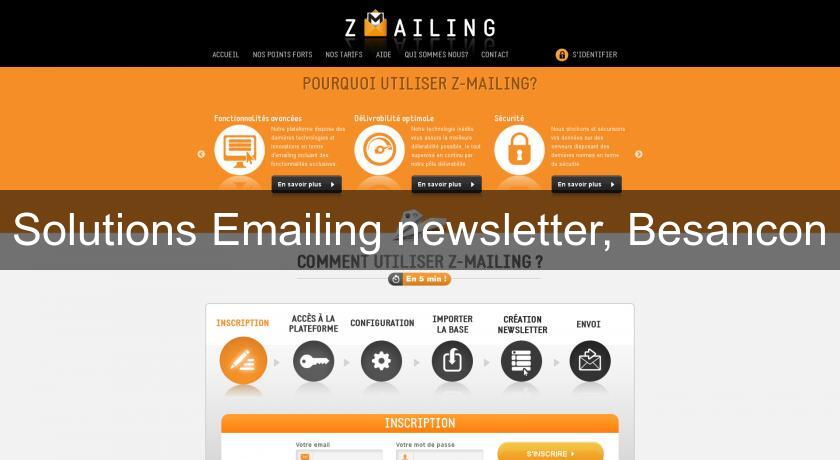 Solutions Emailing newsletter, Besancon