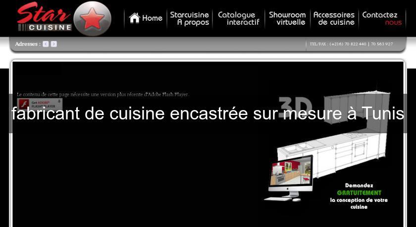 Fabricant de cuisine encastr e sur mesure tunis cuisine for Fabricant de cuisine