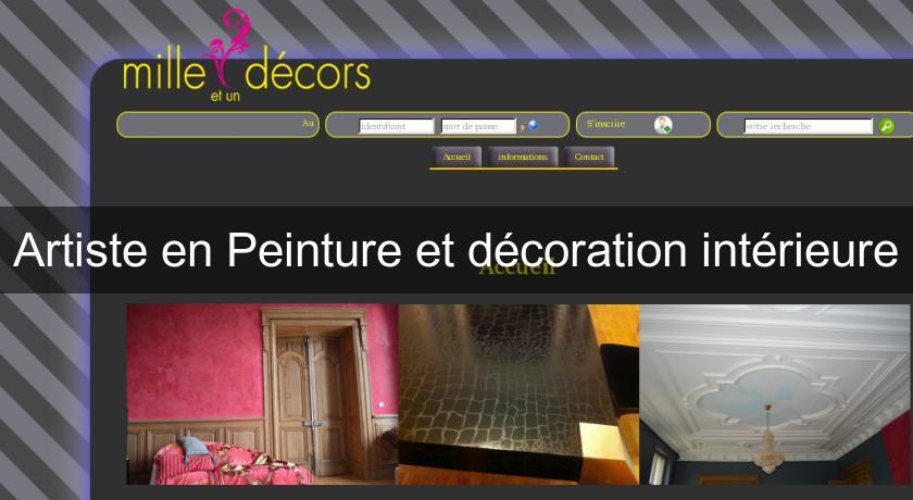 Artiste en peinture et d coration int rieure d coration - Peinture et decoration maison ...