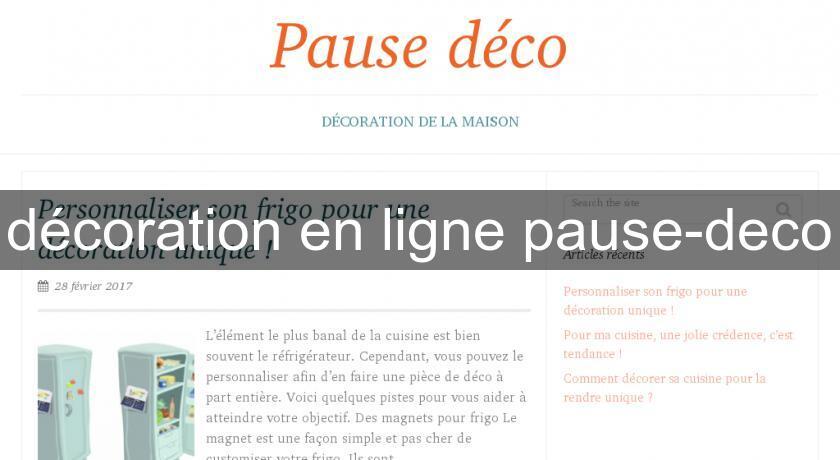 D coration en ligne pause deco objet d coration for Deco en ligne