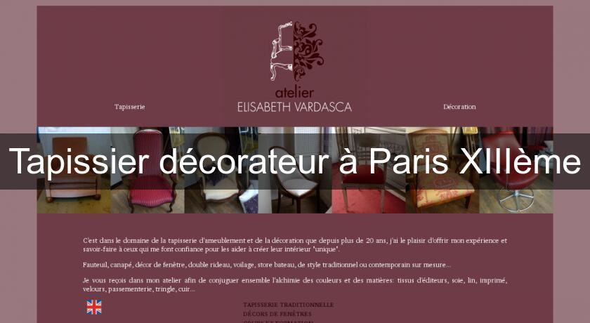 Tapissier d corateur paris xiii me artisan restaurateur - Tapissier decorateur paris ...