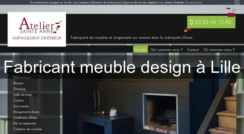Fabricant meuble design à lille mobilier bois