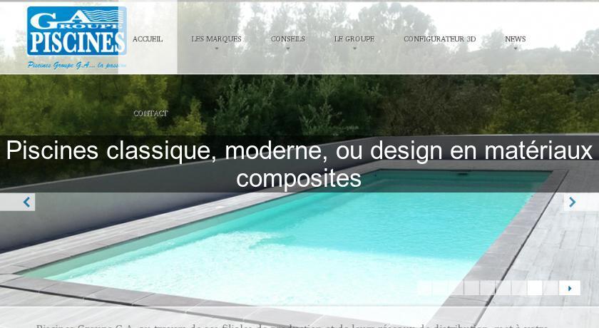 Piscines classique moderne ou design en mat riaux - Piscine moderne design ...