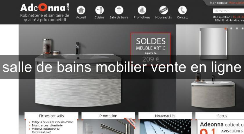 Salle de bains mobilier vente en ligne robinetterie for Salle de bain en ligne
