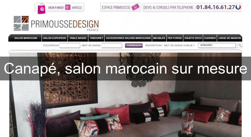 canap salon marocain sur mesure canap. Black Bedroom Furniture Sets. Home Design Ideas