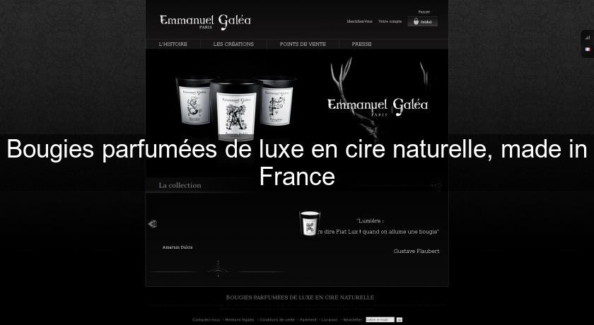 Bougies parfumées de luxe en cire naturelle, made in France