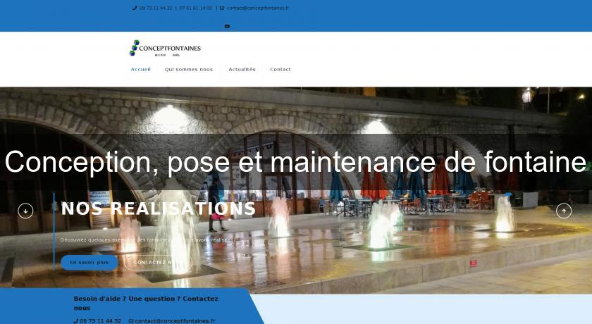 Conception, pose et maintenance de fontaine