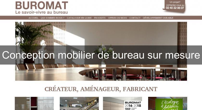 Conception mobilier de bureau sur mesure