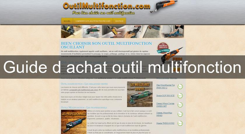 Guide d'achat outil multifonction