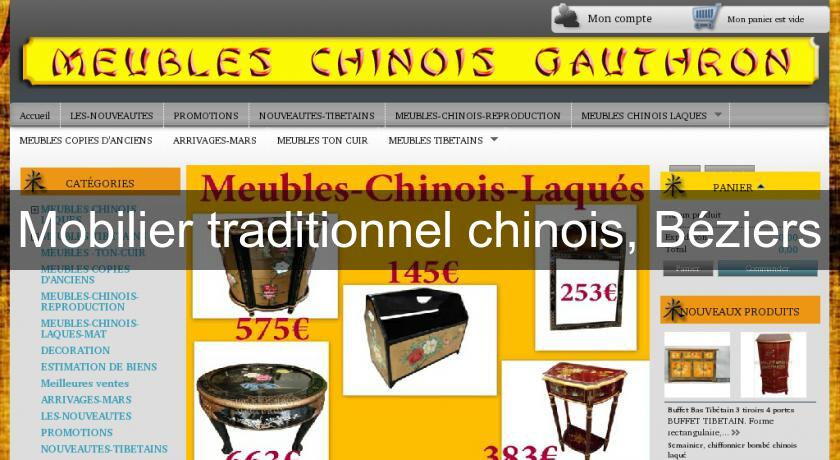 Mobilier traditionnel chinois, Béziers