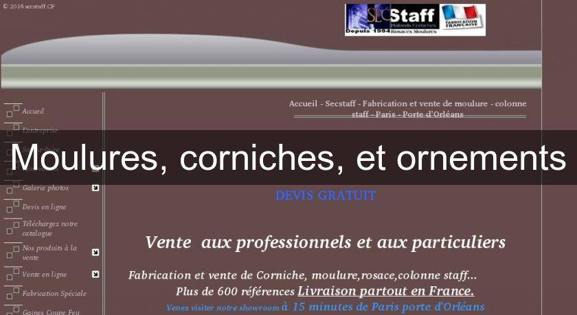 Moulures, corniches, et ornements
