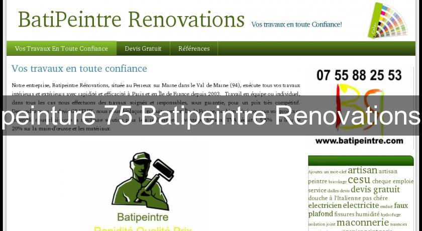 peinture 75 Batipeintre Renovations