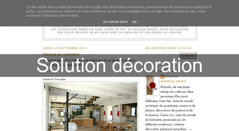 Solution décoration